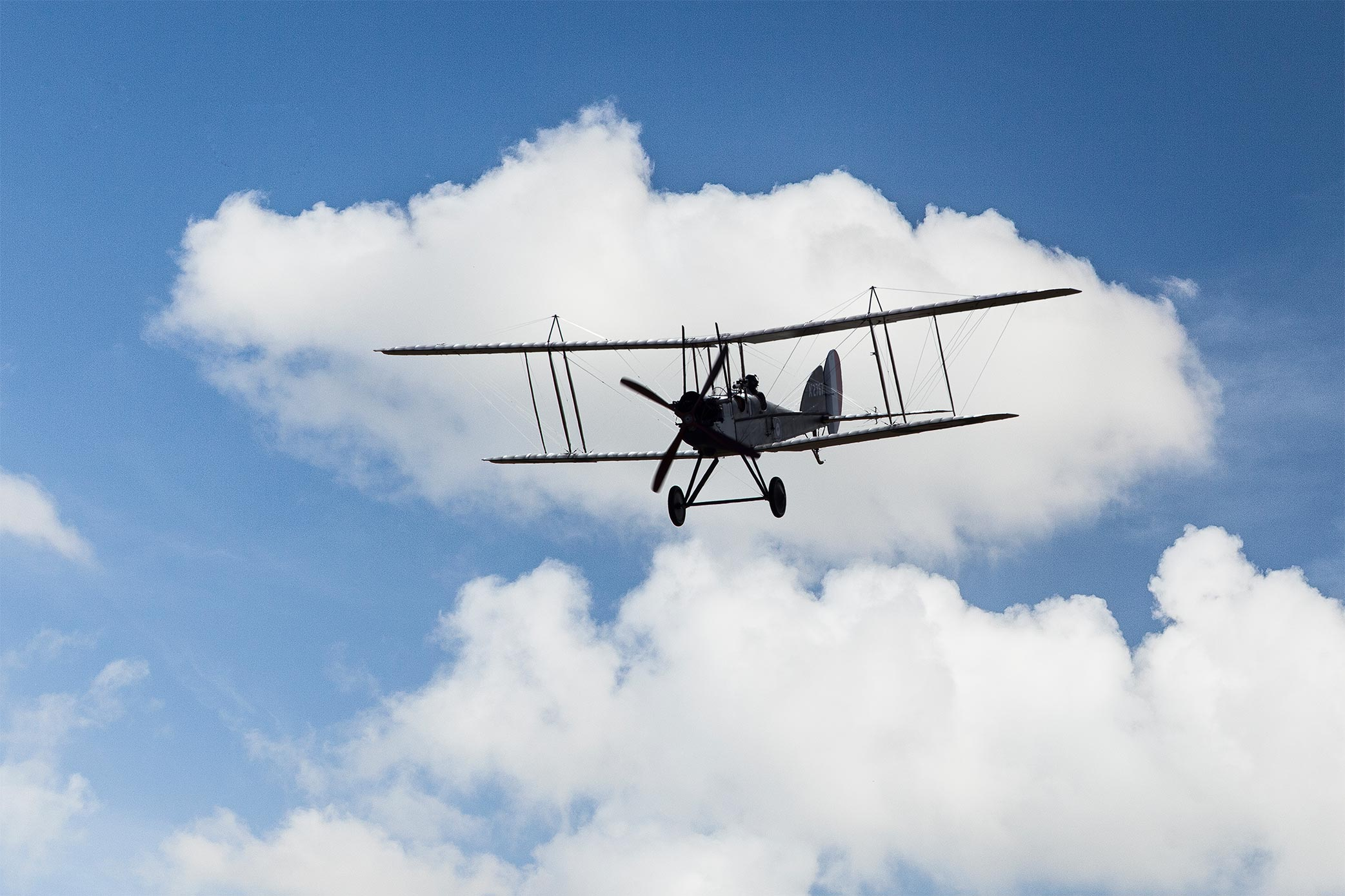Be2 aircraft in flight