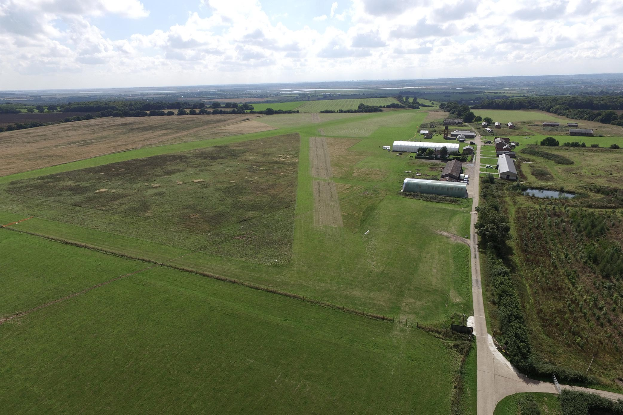 Stow Maries Great War Aerodrome from the sky
