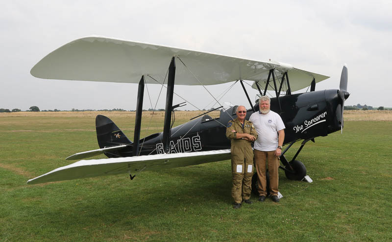 Terry and Ant with the aircraft after the flight