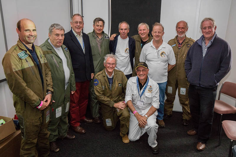 Pilots and display teams with Chairman Peter Martin