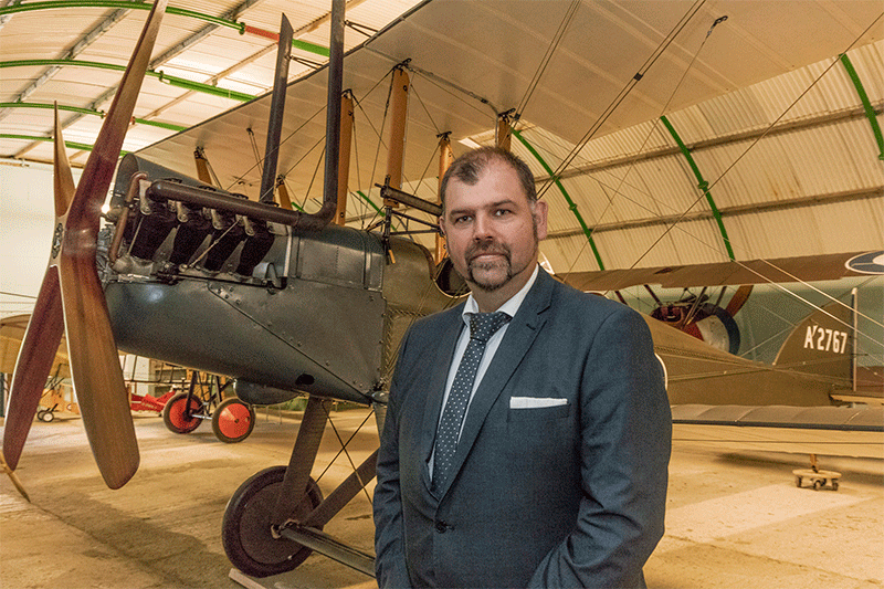 Ian Flint, new CEO of Stow Maries Essex World War 1 Aerodrome Museum near Maldon - Image by David Davies